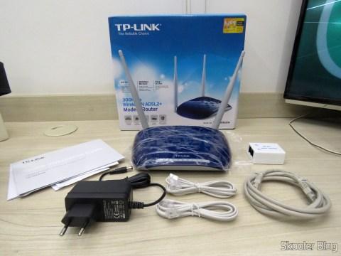 TP-Link TD-W8960N - Modem Roteador Wireless N ADSL2+ de 300Mbps