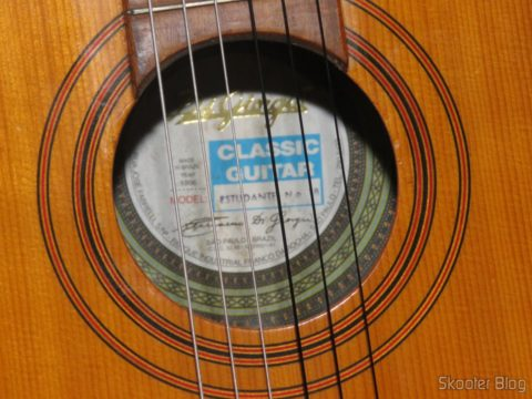 Giannini Guitar MPB Nylon Stringing Medium Voltage Black-Silver, After installation