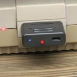 Retro Receiver SNES conectado ao Super Nintendo, em funcionamento