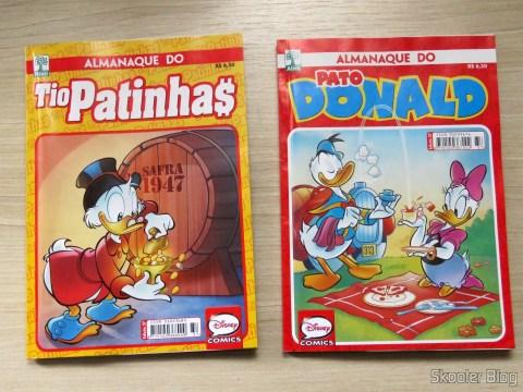 Quadrinhos Almanaque do Tio Patinhas e Almanaque do Pato Donald