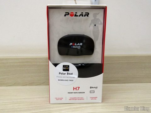 Polar heart rate sensor H7, on its packaging