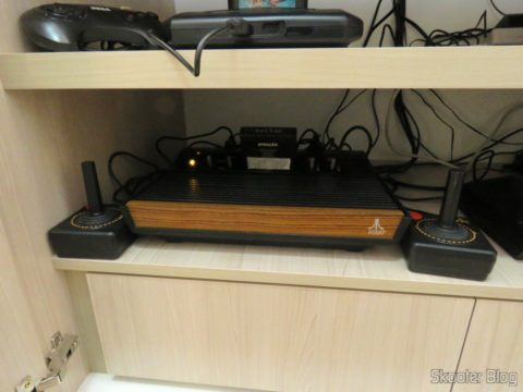 O Atari Video Computer System (2600), com mod S-Video e Vídeo Composto