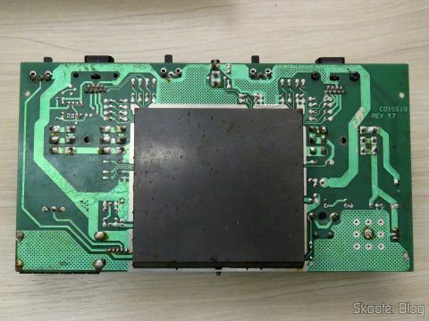 Parte de baixo da placa do Atari 2600