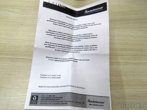 Folheto que acompanha a Super Cola Epoxi De Cura Rápida (8 Minutes)