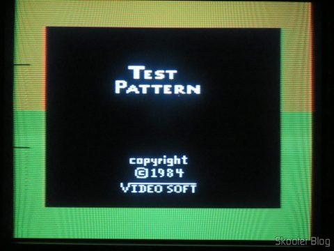 O Atari 2600 já funcionando em NTSC apesar da de-transcodificação ainda incompleta.