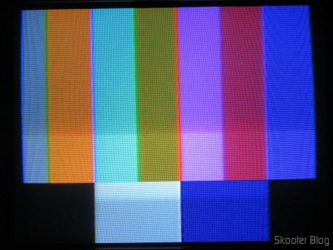 A paleta NTSC após o ajuste do trimpot