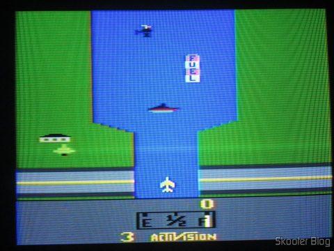 River Raid, executando em NTSC.