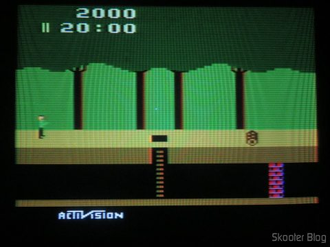 Pitfall, executando em NTSC.