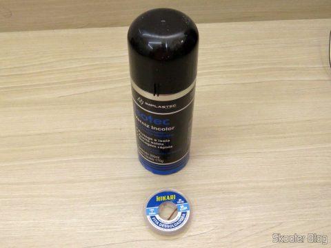 Verniz Incolor Isolante Isotec Spray 300ml Implastec e Fita Dessoldadora - Malha Dessoldadora Hikari - 1,5m 3mm
