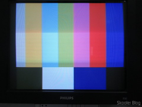 NTSC Palette, with the 2600RGB via composite video on CRT TV.
