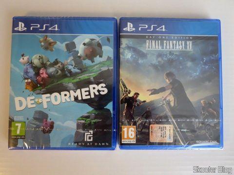 Deformers and Final Fantasy XV, os jogos que vieram com o PS4 Pro.