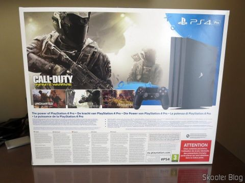 Playstation 4 For, on its packaging.