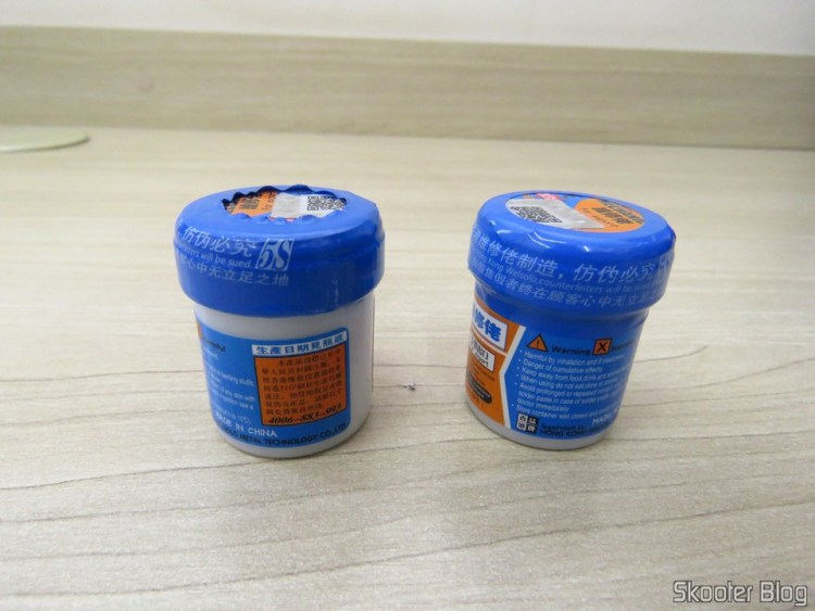 2 Potes de Pasta de Solda Mechanic XG-50 Sn63/Pb37