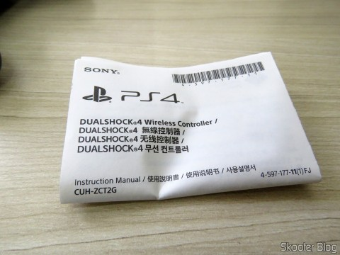 Manual de Instruções do Dualshock 4 Wireless Controller (modelo PS4 Slim/Pro)