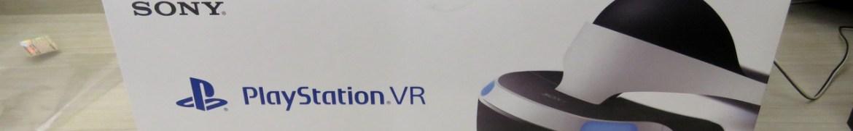 Playstation VR, em sua embalagem.