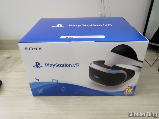 Playstation VR, on its packaging.