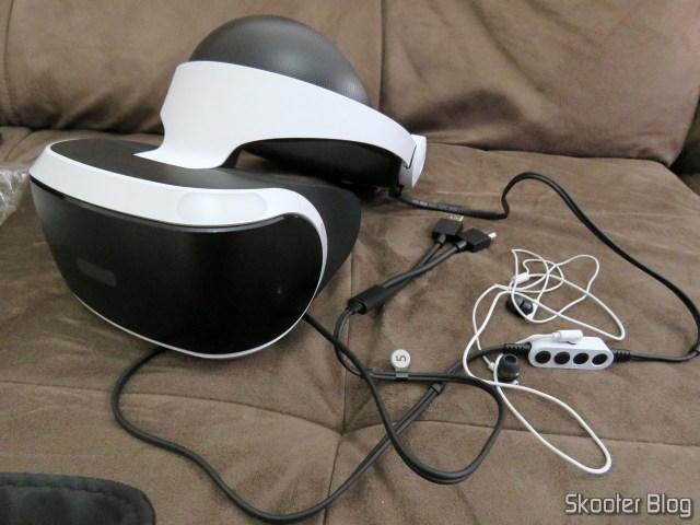 Playstation VR, já instalado.