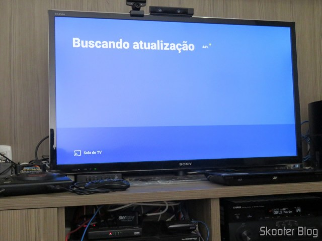 Chromecast Ultra, fazendo atualização.
