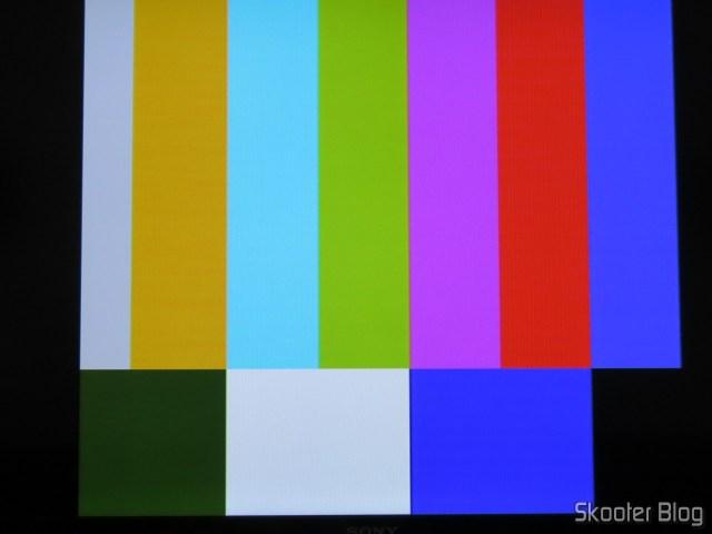 A paleta de cores, usando a saída S-Video do 2600RGB.