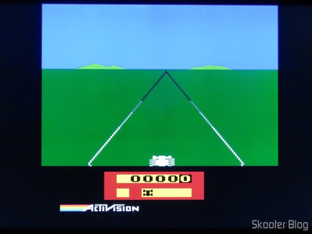 Enduro, on the Atari 2600 with the 2600RGB using the RGB output.