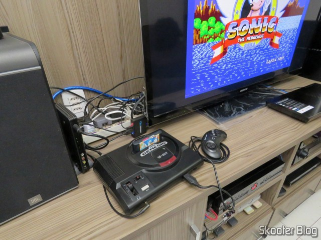 Mega Drive, connected to gscartsw_lite v 1.5.