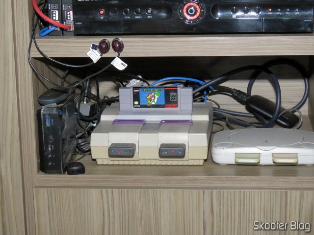 Super Nintendo, connected to gscartsw_lite v 1.5.