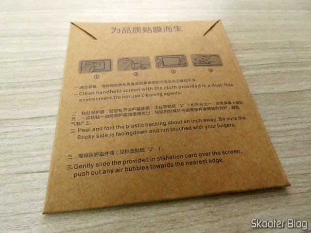 Película que veio com a Xiaomi Mi Band 2