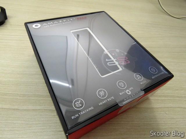 Embalagem do Smart Watch Xiaomi Huami Amazfit Pace modelo A1612.