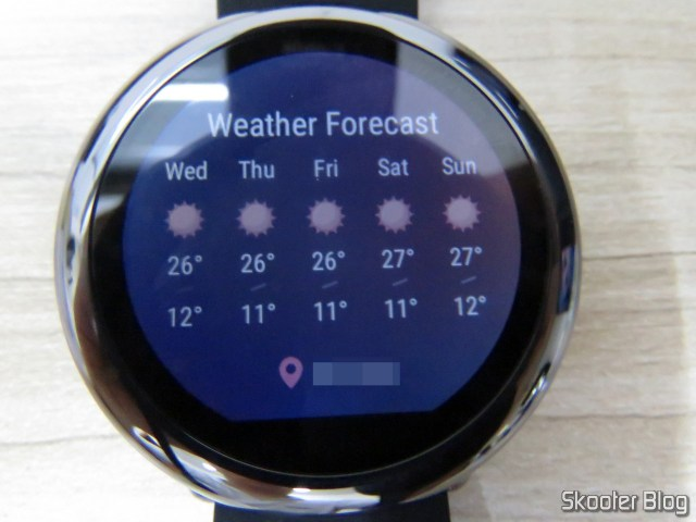 Weather forecast in Amazfit Pace.