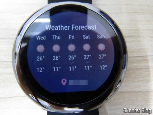 Previsão do tempo no Amazfit Pace.