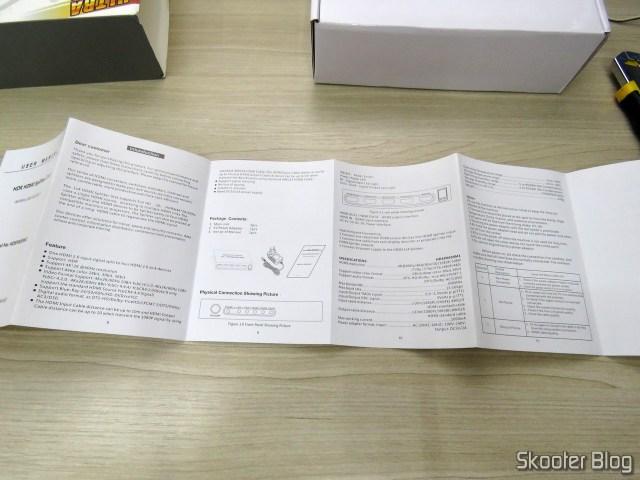 Manual de instruções do Splitter HDMI 2.0 Voxlink com 4 saídas - 4K 60Hz HDCP 2.2