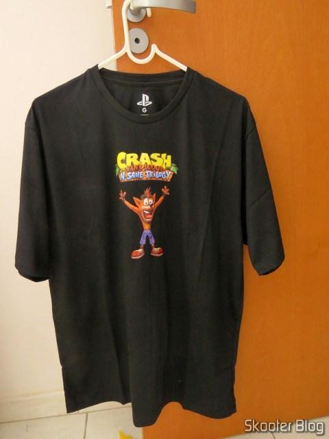Camiseta exclusiva que veio com o Crash Bandicoot N. Sane Trilogy (PS4)