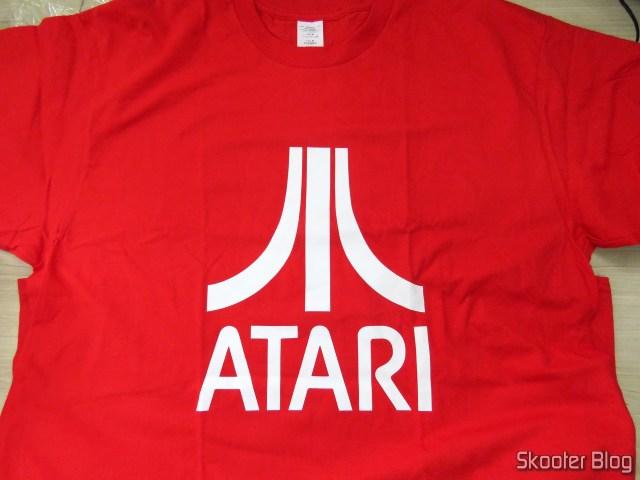 Camiseta de Algodão com Logotipo da Atari.