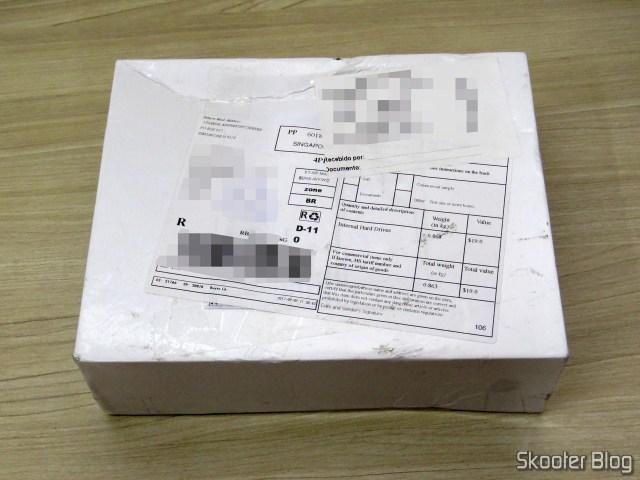 """Caixa com o HDD Western Digital Blue 4TB SATA 3.5"""""""