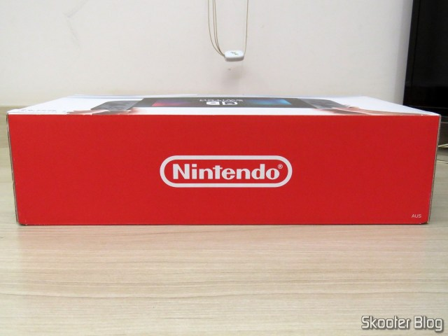 Nintendo Switch, on its packaging.
