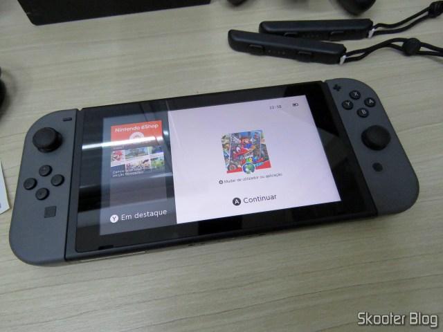 Super Mario Odyssey no Nintendo Switch.