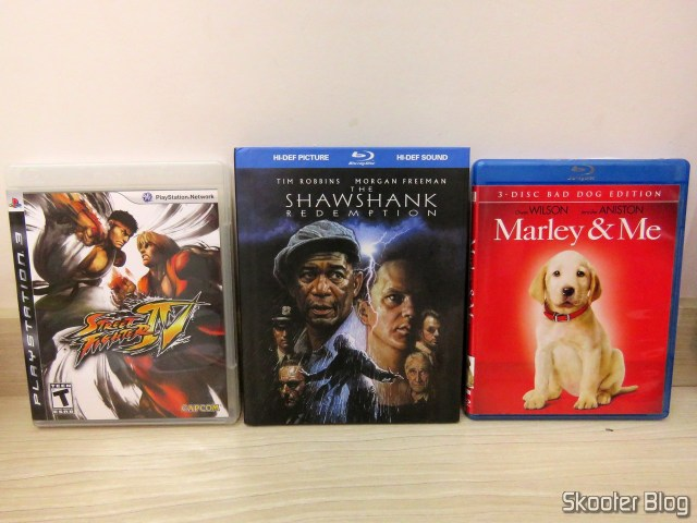 A play and two films that brought the United States along with my Playstation 3: Street Fighter IV, The Shawshank Redemption, and Marley & Me.