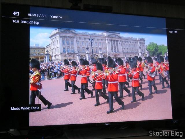 Photo appears in Sony XBR-55X905E by Minix Neo U1.