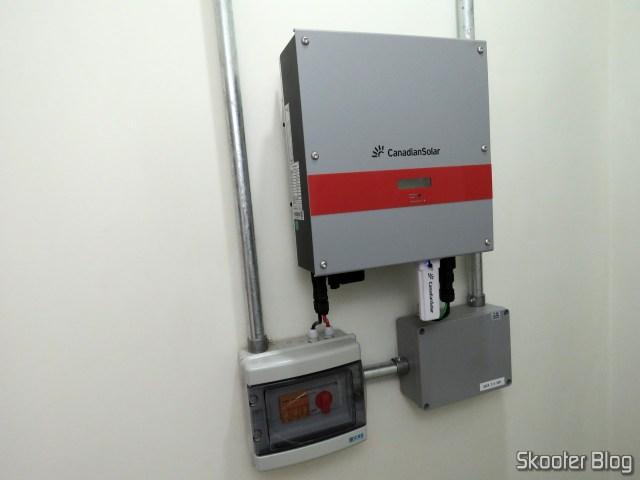 The Canadian Solar Inverter installation.