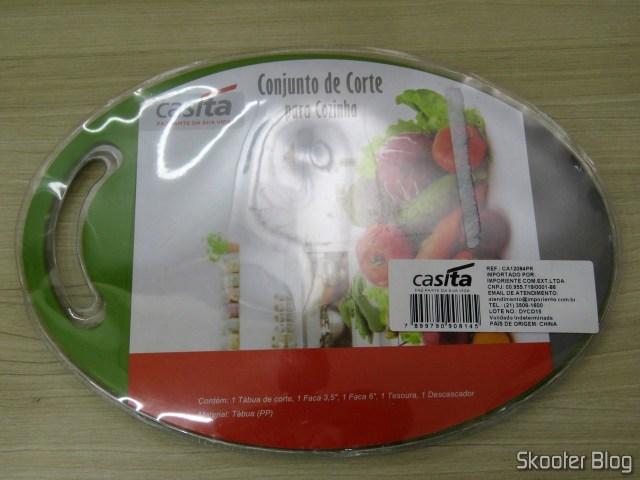 Conjunto de Corte para Cozinha 5 peças Verde e Preto