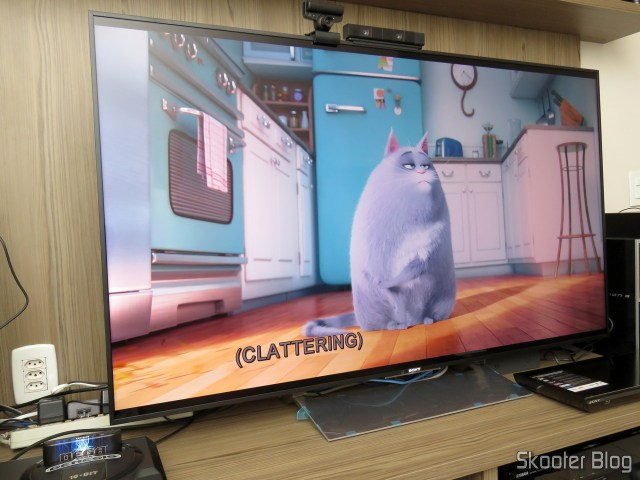TV Sony XBR-55X905E 4K, já instalada.