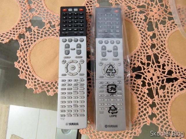 Controles Remotos do RM-A830 e do RM-A870.