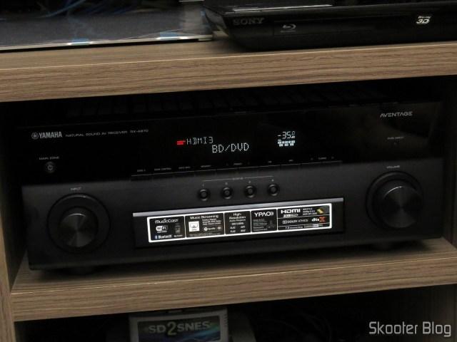 Receiver Yamaha Aventage RX-A870, identificando a fonte: Minix Neo U1.