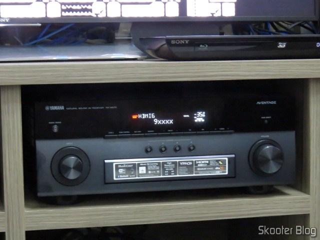 Receiver Yamaha Aventage RX-A870, identificando a fonte: MSI Cubi 2.