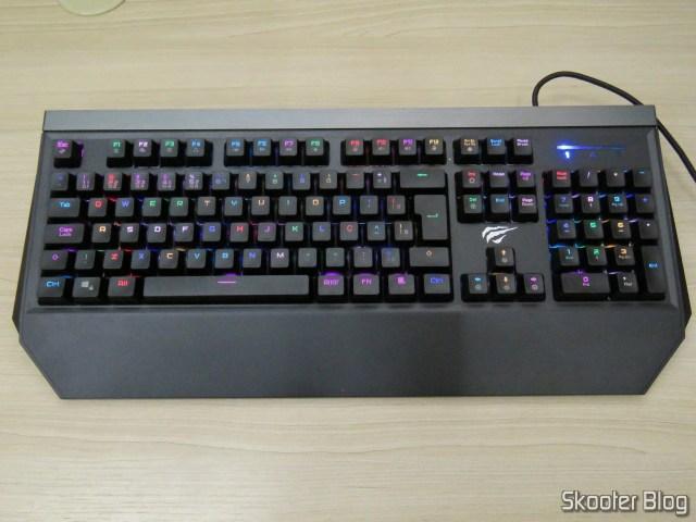 Mechanical Keyboard Jus HV-KB370L RGB, operation.