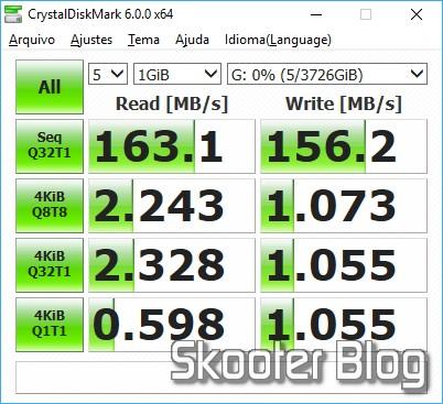 "HDD Western Digital 3.5"" Red, modelo WD40EFRX de 4TB no CrystalDiskMark."