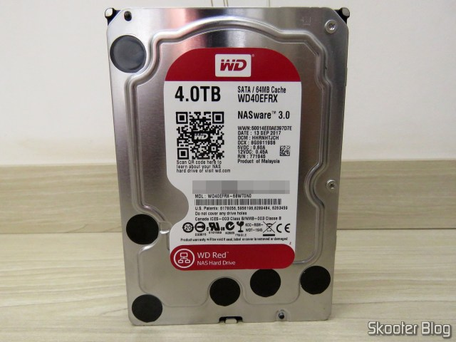 "HDD Western Digital 3.5"" Red, modelo WD40EFRX de 4TB."