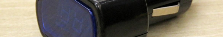 Medidor de Tensão (Voltímetro) de Bateria Automotiva com display LED.