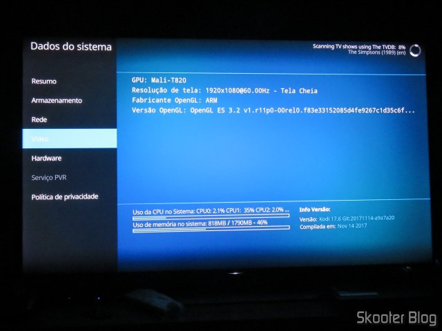 Kodi on the Minix NEO U9-H.