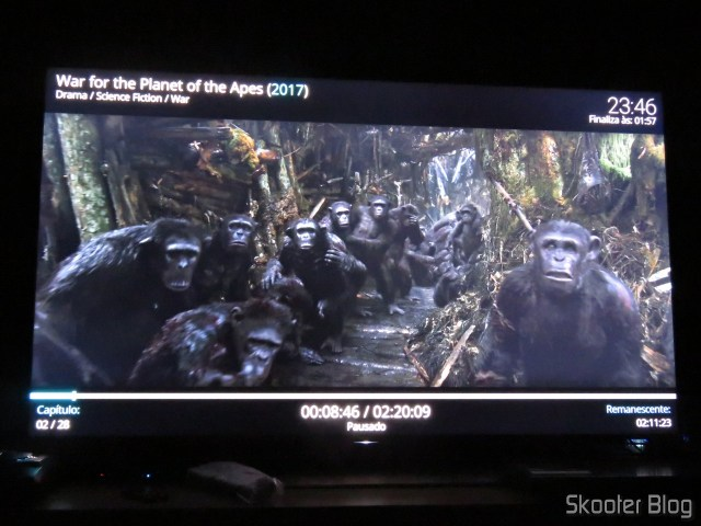 """War for The Planet of Apes"" in 4 k HDR in Minix NEO U9-H."